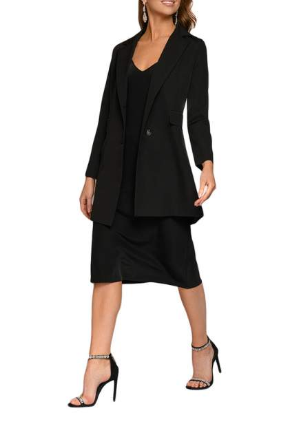 Платье-комбинация женское D&M by 1001DRESS DM01846BK черное 40