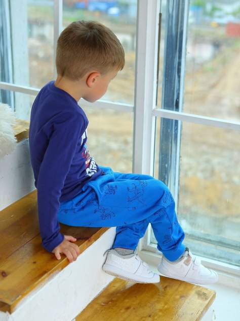 Брюки детские KOTTONI, цв. синий