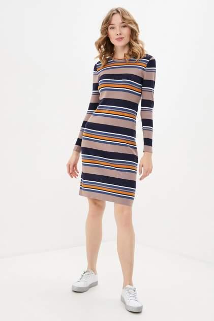 Женское платье Baon B450633, бежевый, синий, оранжевый