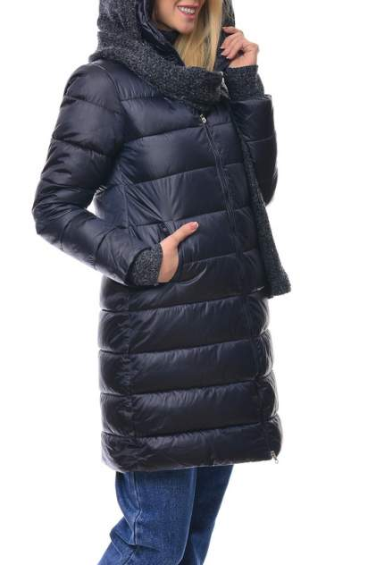 Пуховик-пальто женское MODALETO 21582 синее 48