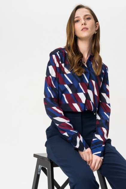 Рубашка женская b.young 20804683 синяя 36
