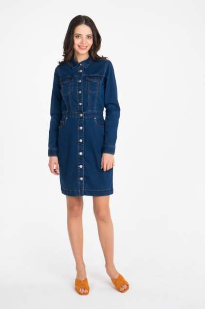 Платье-рубашка женское b.young 20805228 синее 38