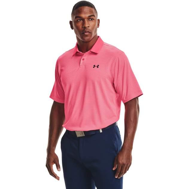 Футболка-поло Under Armour Performance Stripe Polo, розовый