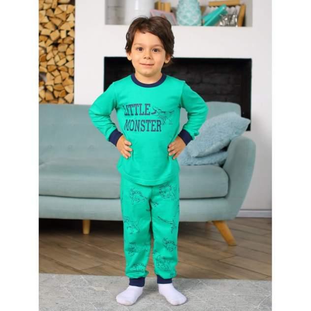 Пижама детская KOTTONI, цв. зеленый р.110