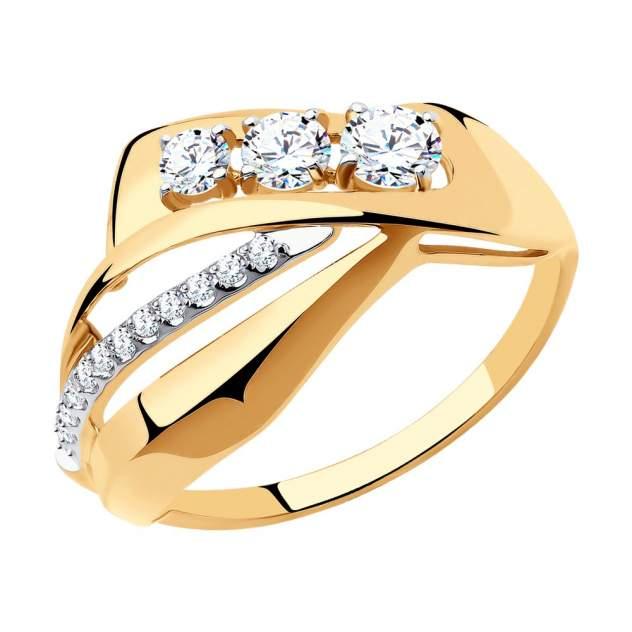 Кольцо SOKOLOV из золота с фианитами 018504 р.19