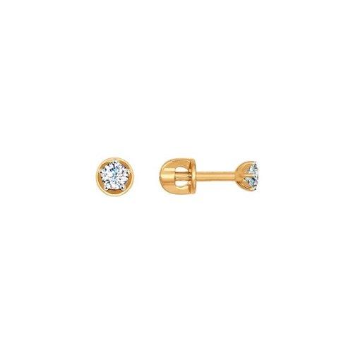 Серьги-пусеты SOKOLOV из золота с фианитами 026932
