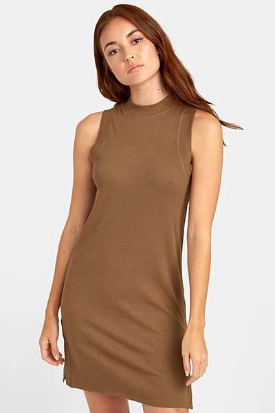 Женское платье RVCA Lemmon Dress Vintage Green S3DRRI-RVP0, коричневый