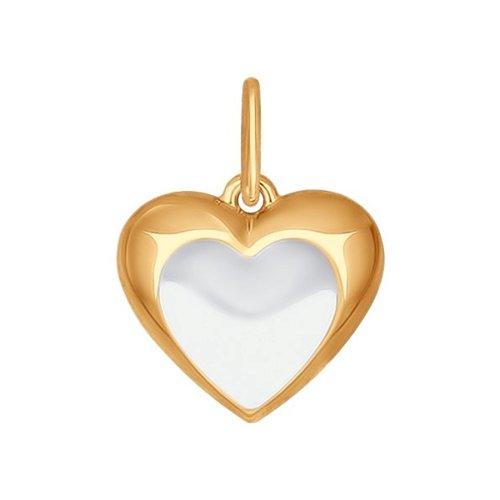 Подвеска в форме сердца SOKOLOV из золота 035034