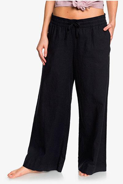 Женские укороченные брюки с широкими штанинами Great Past Roxy, черный, S