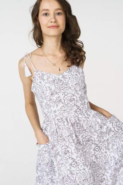 Повседневное платье женское Baon B468024 белое 44