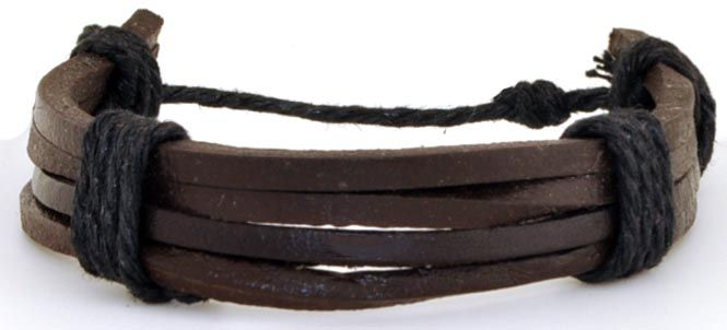 Браслет мужской 2beMan ST027 коричневый