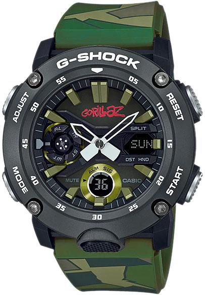 Японские наручные часы Casio G-SHOCK GA-2000GZ-3AER с хронографом