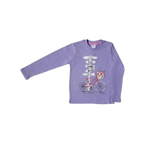 Джемпер для девочек Bella veza, цв. фиолетовый, р-р 122
