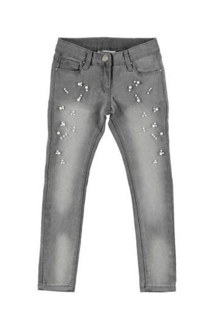 Джинсы для девочки iDO, цв.серый, р-р 146