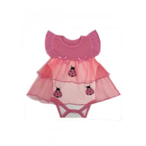 Боди-платье для девочек CANINI, цв. розовый, р-р 50