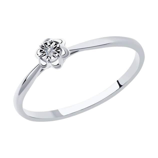 Кольцо женское SOKOLOV из золота с бриллиантом 1011966 р.17.5