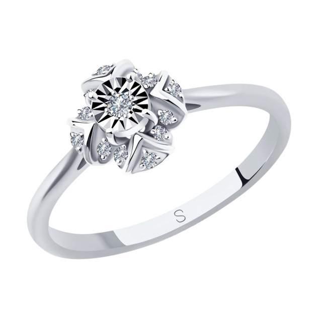 Кольцо женское SOKOLOV из белого золота с бриллиантами 1012000 р.17.5