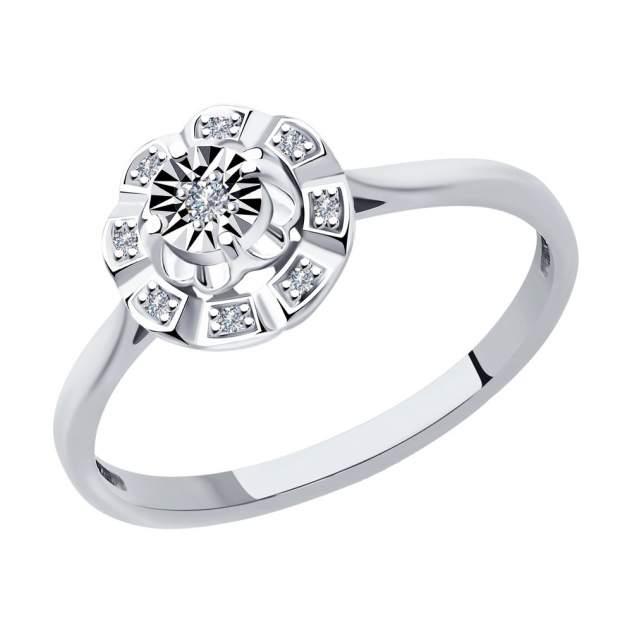 Кольцо женское SOKOLOV из белого золота с бриллиантами 1012038 р.17
