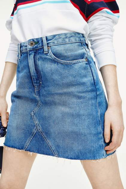 Юбка женская Tommy Jeans DW0DW08292 голубая 42