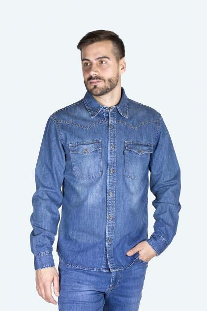 Джинсовая рубашка мужская Dairos GD5080100 синяя 3XL