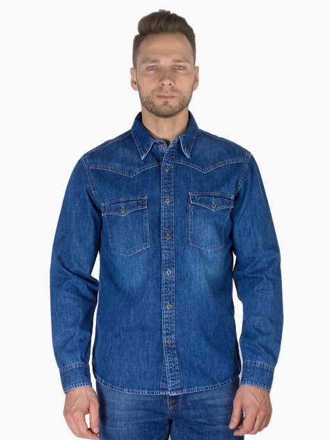 Джинсовая рубашка мужская Dairos GD5080101 синяя 3XL