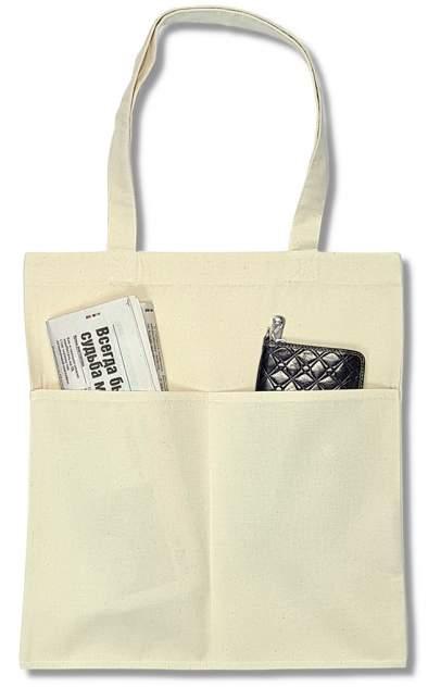 Эко сумка шоппер ЕстьНюанс с двумя карманами