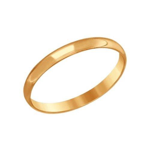 Обручальное кольцо женское SOKOLOV из золота 110183 р.22