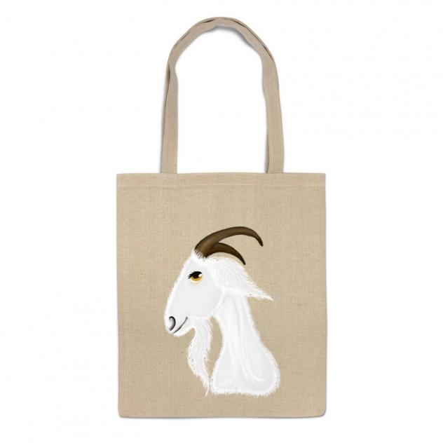 Сумка-шоппер Printio Голова белого козла