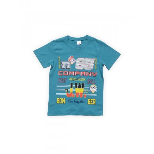 Футболка для мальчиков Морская волна Company Веселый Супер Зайчонок, цв. голубой, р-р 134