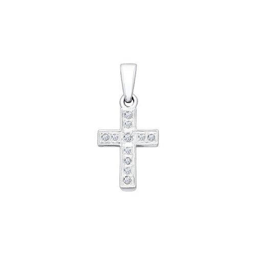 Крест SOKOLOV из белого золота с бриллиантами 1120015