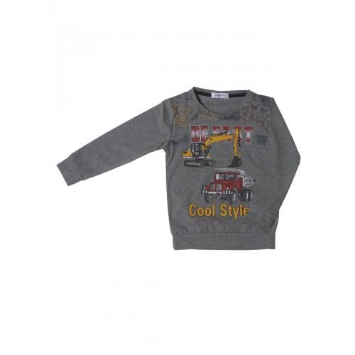 Джемпер для мальчиков Ciggo, цв. серый, р-р 116