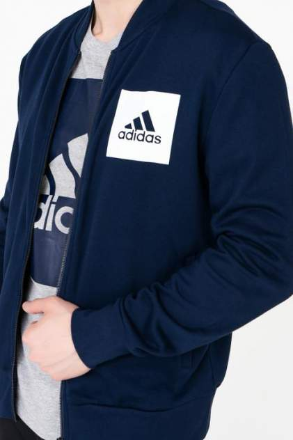 Толстовка мужская Adidas CE1936 синяя 44