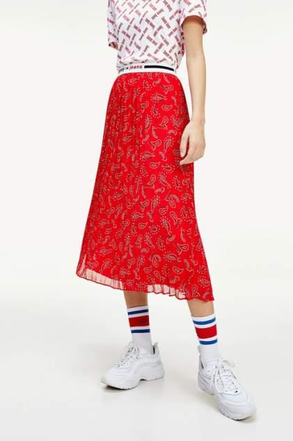Юбка женская Tommy Jeans DW0DW08080 красная 46
