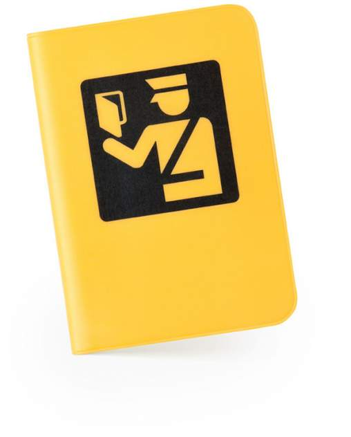 Обложка для паспорта «Паспортный контроль» Студия Артемия Лебедева V003643 желтый