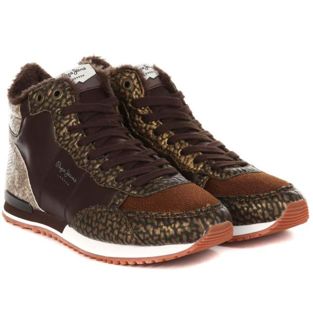 Кроссовки женские Pepe Jeans GABLE TUMBLE BOOTIE PLS30789, коричневый