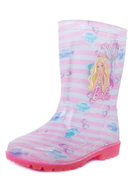 Резиновые сапоги детские Barbie, цв.разноцветный р.27