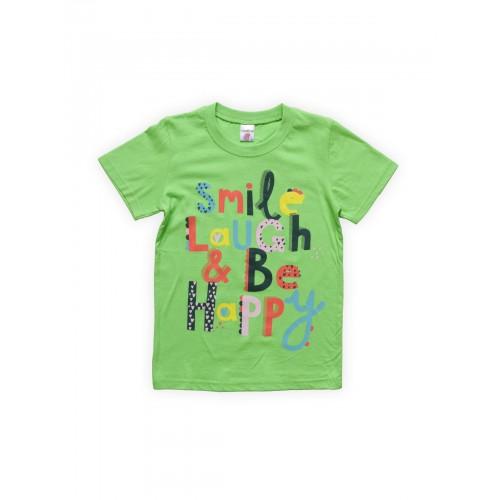 Футболка для девочек Салатовая Веселый Супер Слоненок, цв. зеленый, р-р 128