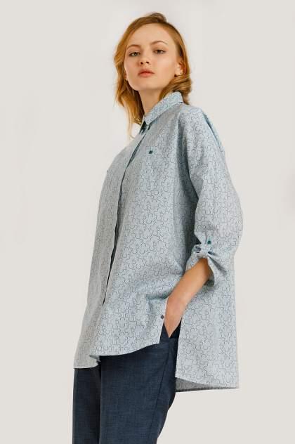Блузка женская Finn-Flare B20-11074 зеленая 2XL