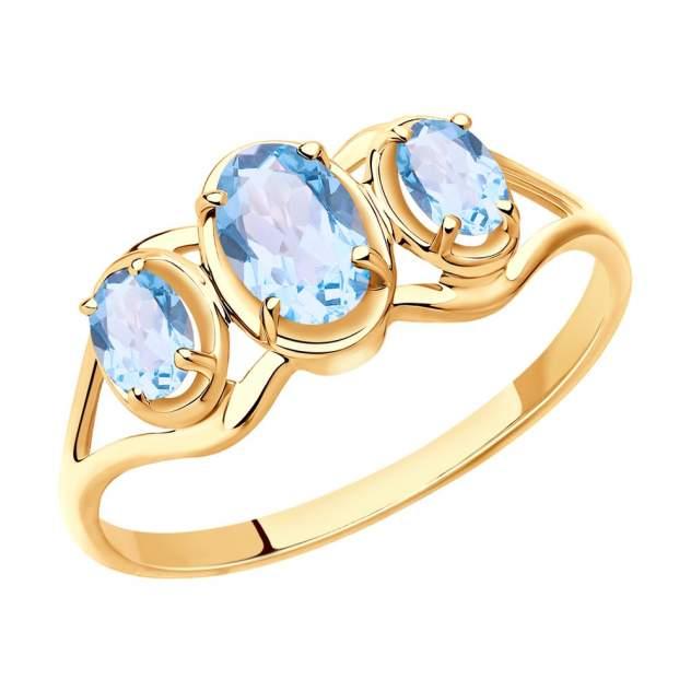 Кольцо женское SOKOLOV из золота с топазами 715408 р.17.5