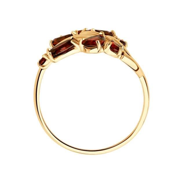 Кольцо женское SOKOLOV из золота с гранатами 715735 р.16.5