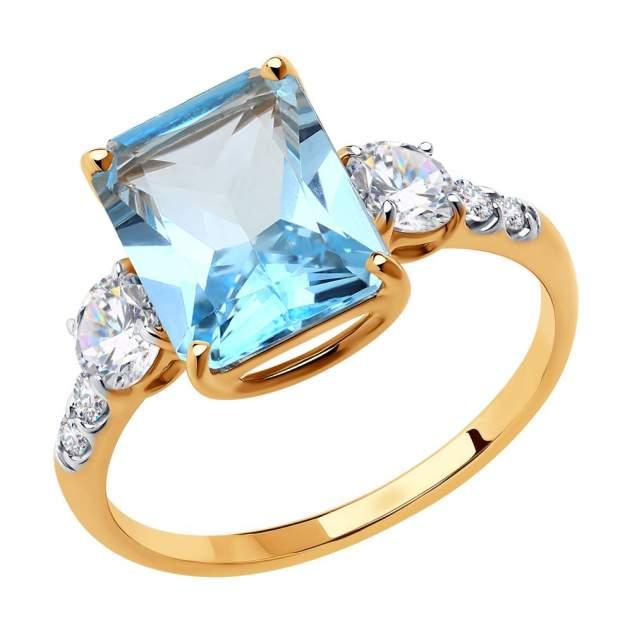 Кольцо женское SOKOLOV из золота с топазом и фианитами 715921 р.16.5