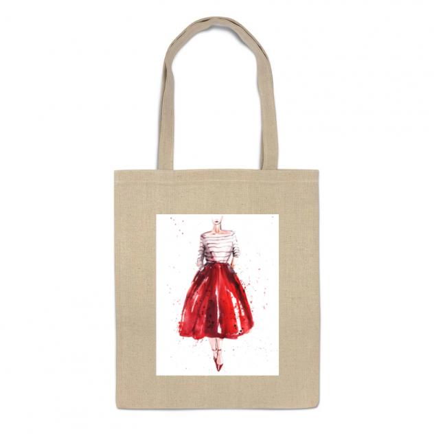 Сумка-шоппер Printio Red skirt, red lips