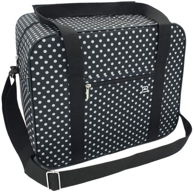Дорожная сумка женская Pobedabags Лоран черная, 36х30х27 см