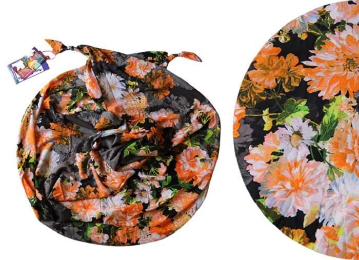Шарф женский Olange Assorty Апрель оранжевый/черный, 185х65 см