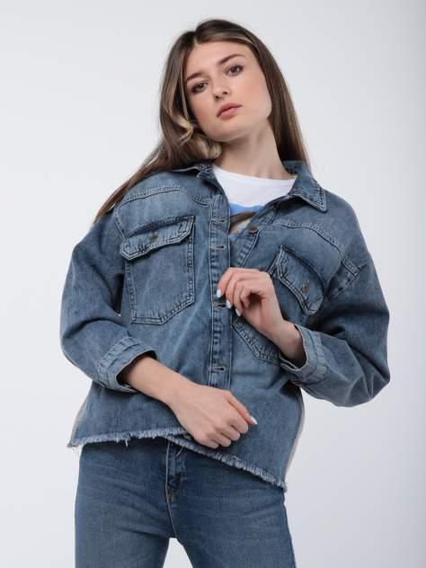 Джинсовая куртка женская A passion play SQ64513 синяя S