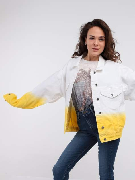 Джинсовая куртка женская A passion play SQ64043 белая S