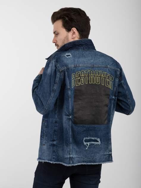 Джинсовая куртка мужская A passion play SQ64508 синяя L