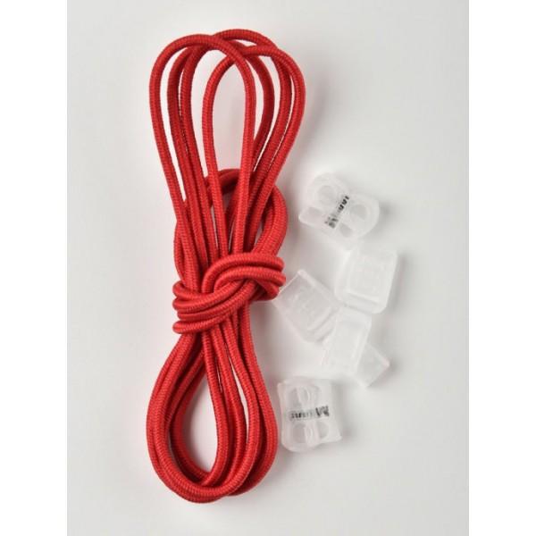 Регулируемые эластичные шнурки Tarrago TL43 красные 100см