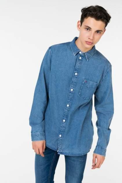 Джинсовая рубашка мужская Tommy Jeans DM0DM05206 синяя 50