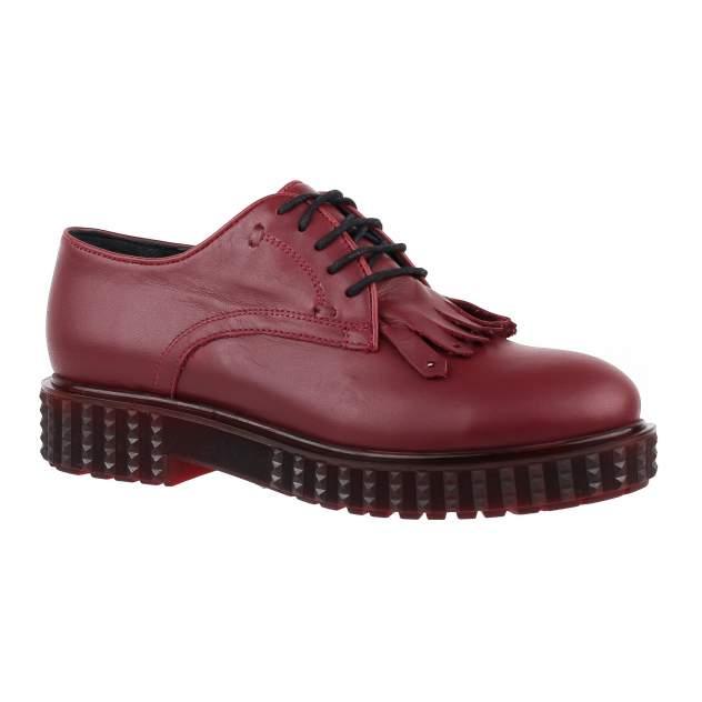 Полуботинки женские Shoes Market 165-854-17 красные 38 RU